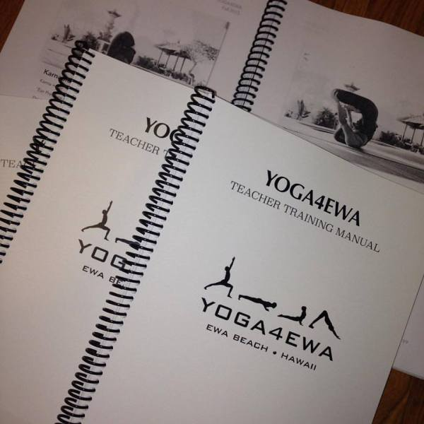 Our YOGA4EWA Teacher Training Manual
